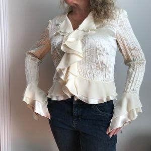 Joseph Ribkoff cream long sleeves blouse